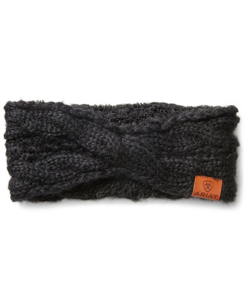Ariat Women's Cozy Cable Headband, Black, hi-res