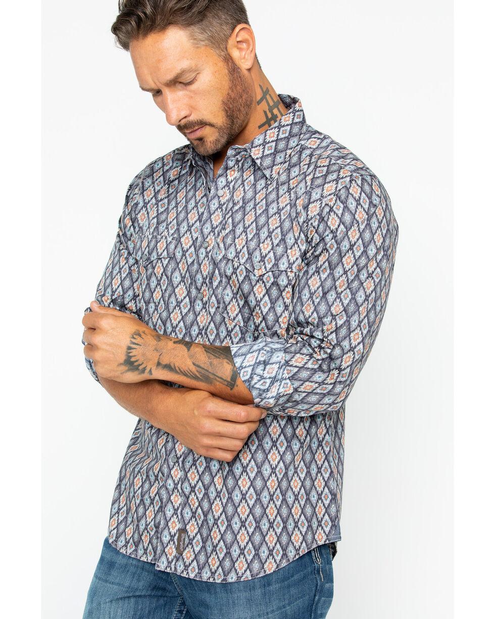 Wrangler Men's Retro Premium Geo Shirt , Grey, hi-res
