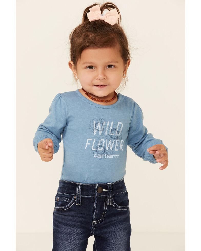 Carhartt Infant Girls' Wild Flower Graphic Long Sleeve Bodysuit , No Color, hi-res