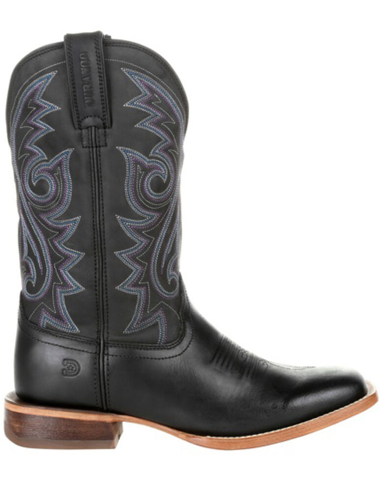 Durango Men's Black Arena Pro Western Boots - Square Toe, Black, hi-res