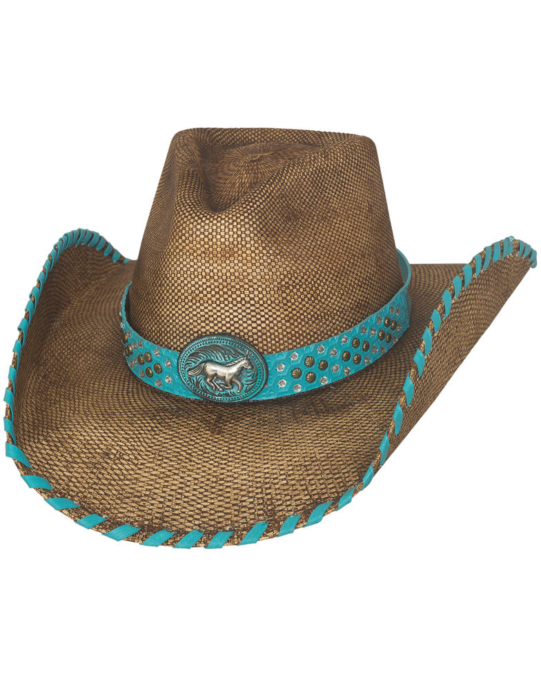 Bullhide Anything Goes Straw Cowboy Hat, Pecan, hi-res