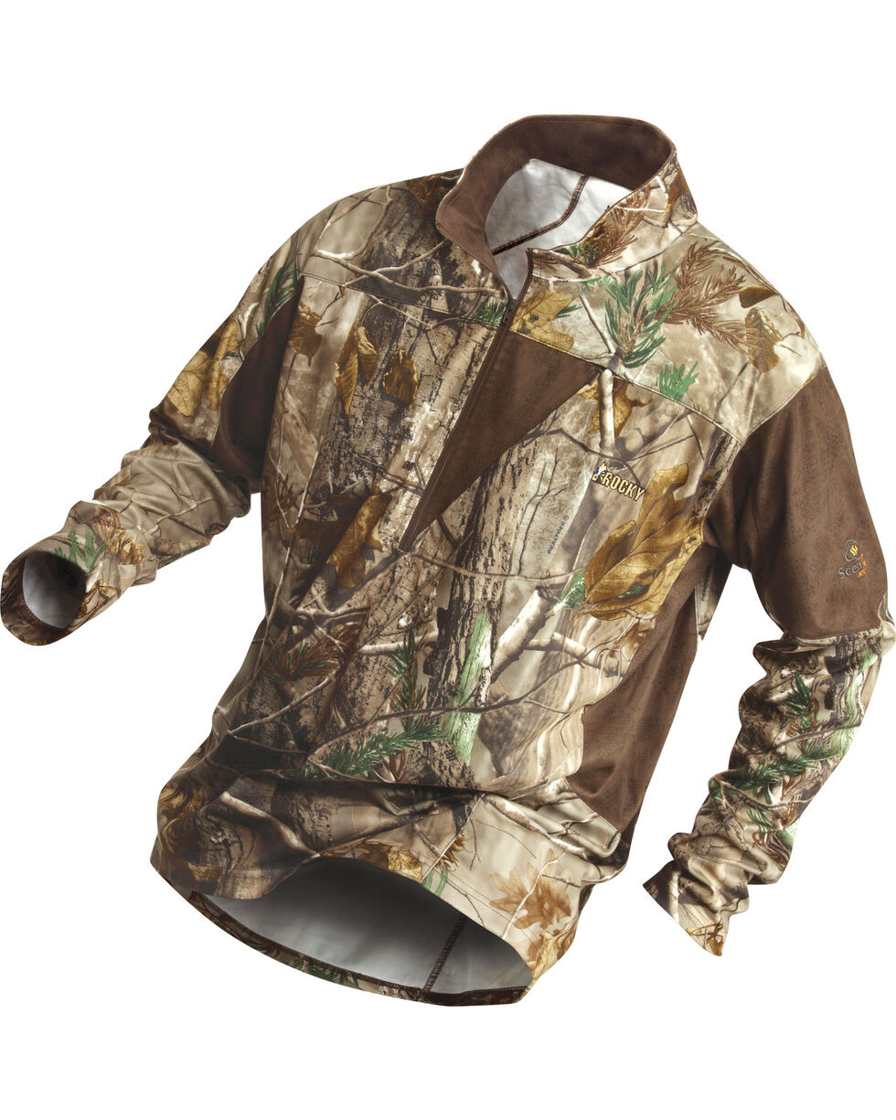 Rocky Men's SilentHunter 1/4-Zip Camo Shirt, Camouflage, hi-res