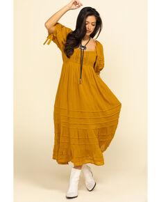 Free People Women's Lets Be Friends Midi Dress, Rust Copper, hi-res