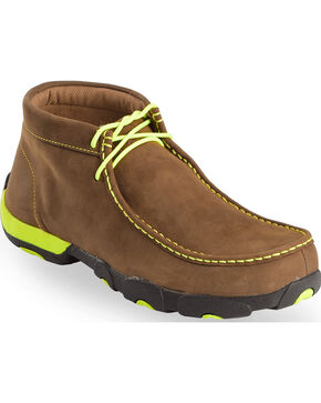 Twisted X Men's Steel Toe Driving Mocs, Brown, hi-res