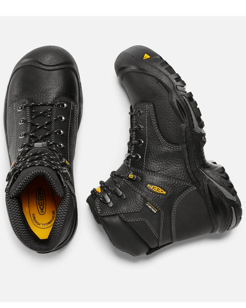 "Keen Men's 6"" Mt. Vernon Waterproof Work Boots - Steel Toe, Black, hi-res"