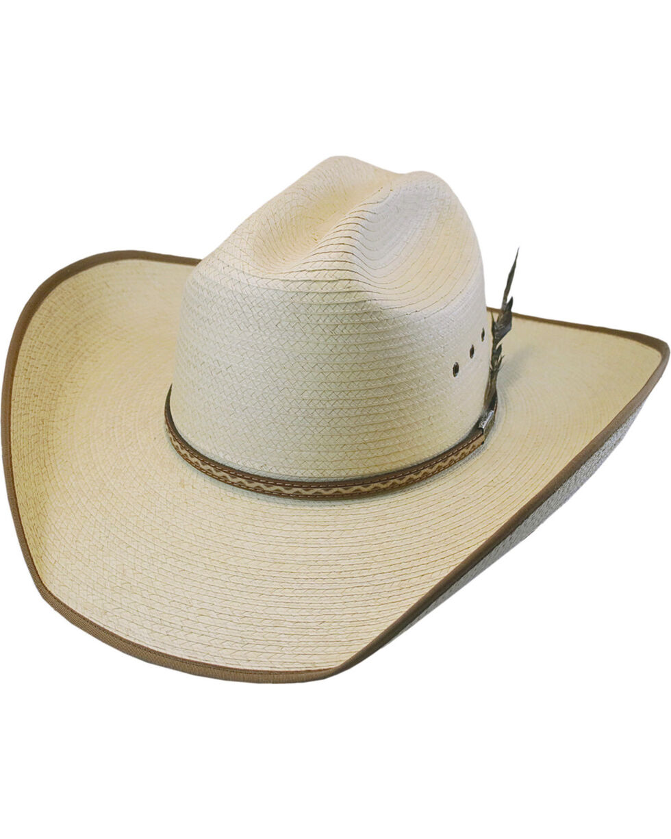 Larry Mahan Men's Natural Hurst Palm Hat , Natural, hi-res