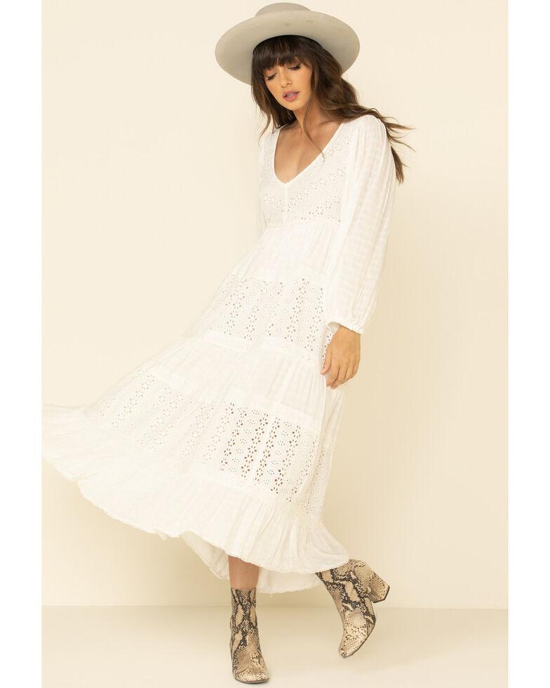 Free People Women's Mockingbird Cream Maxi Dress, Cream, hi-res
