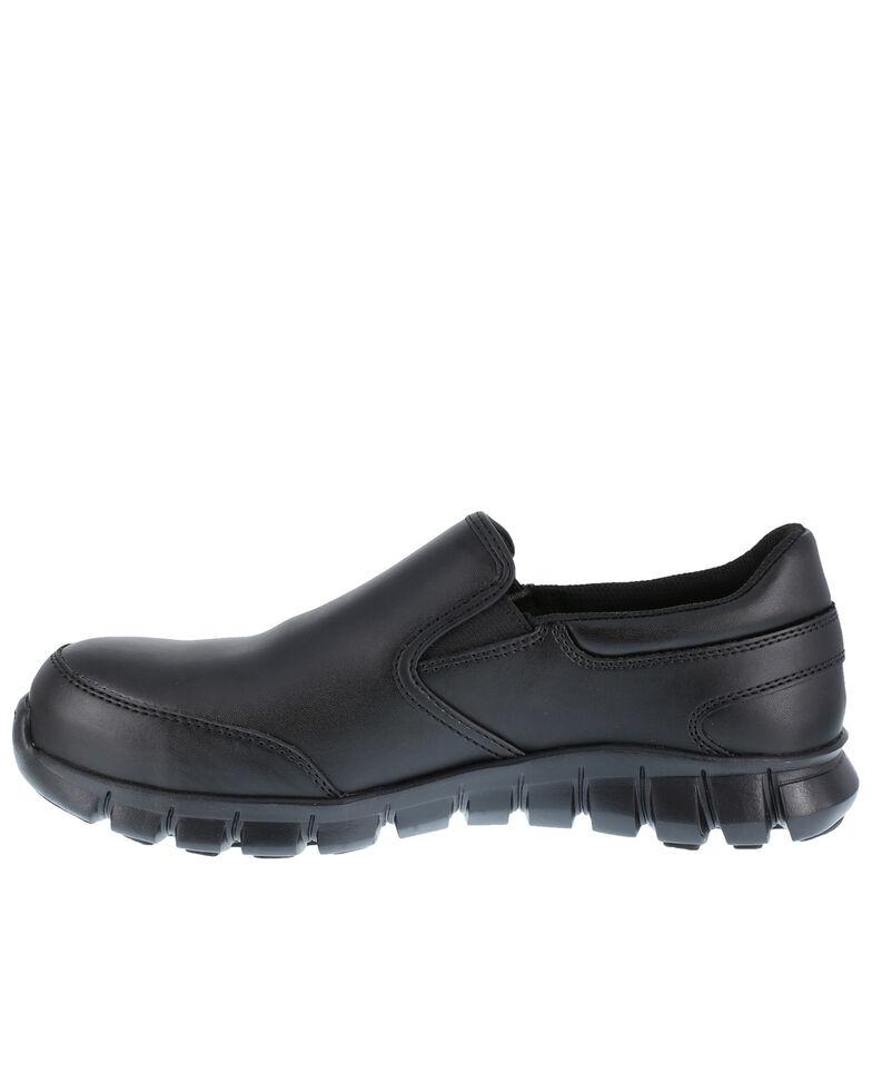 Reebok Women's Slip-On Sublite Work Shoes - Composite Toe, Black, hi-res