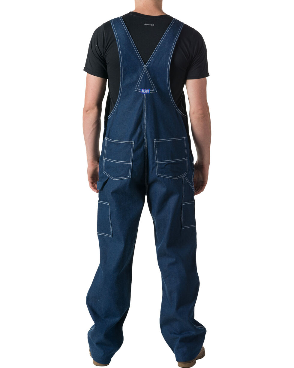 Walls Men's Big Smith Rigid Denim Bib Overalls - Big and Tall, Indigo, hi-res