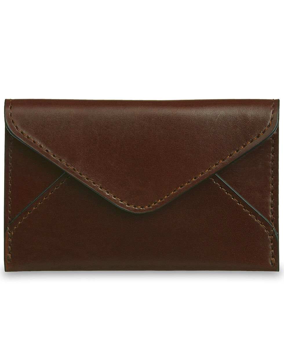 Lucchese Men's Sienna Leather Business Card Case, Brown, hi-res