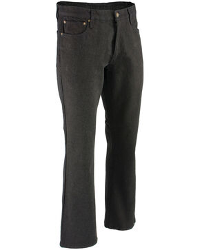 "Milwaukee Leather Men's Black 32"" Aramid Infused 5 Pocket Loose Fit Jeans - XBig, Black, hi-res"