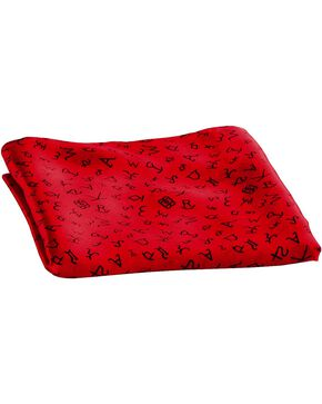 M&F Branded Silk Wild Rag, Red, hi-res