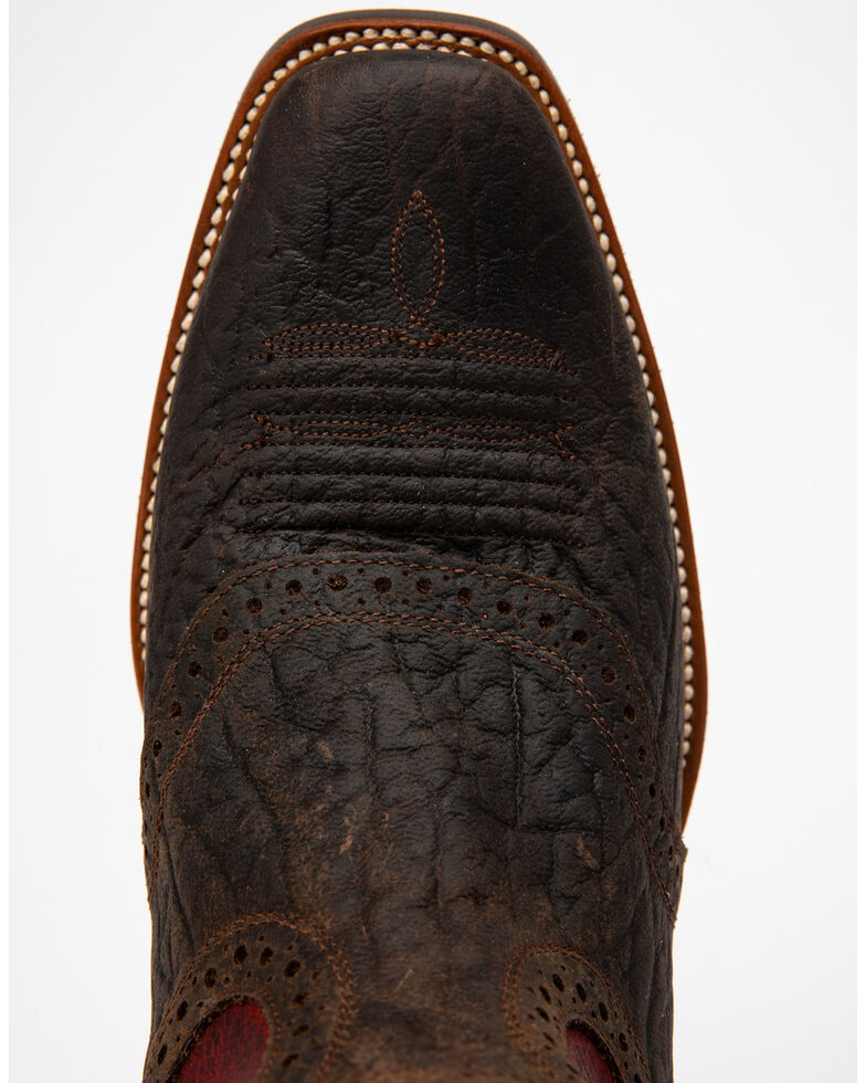 Cody James Men's Chocolate Bullhide Western Boots - Square Toe, Chocolate, hi-res