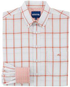 Resistol Men's Plaid Willcox Button Down Shirt , Light Blue, hi-res