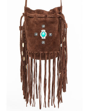 Idyllwind Women's Good, Gone, and Movin' Suede Bucket Bag, Brown, hi-res