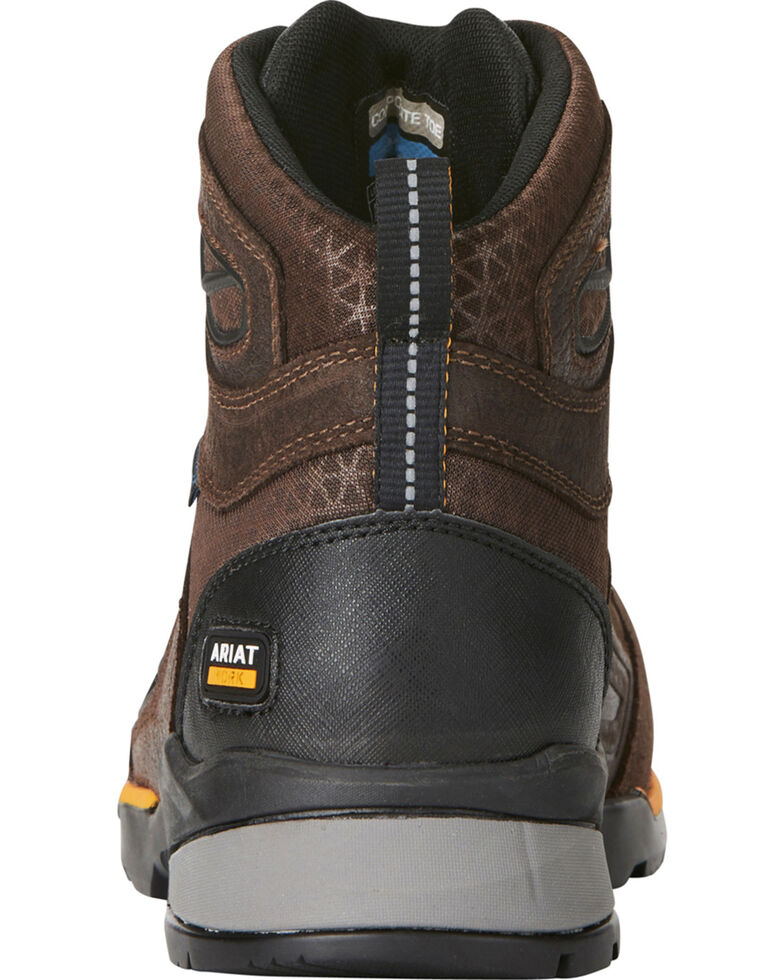 "Ariat Men's Rebar Flex 6"" H2O Brown Work Boots - Soft Toe, Chocolate, hi-res"