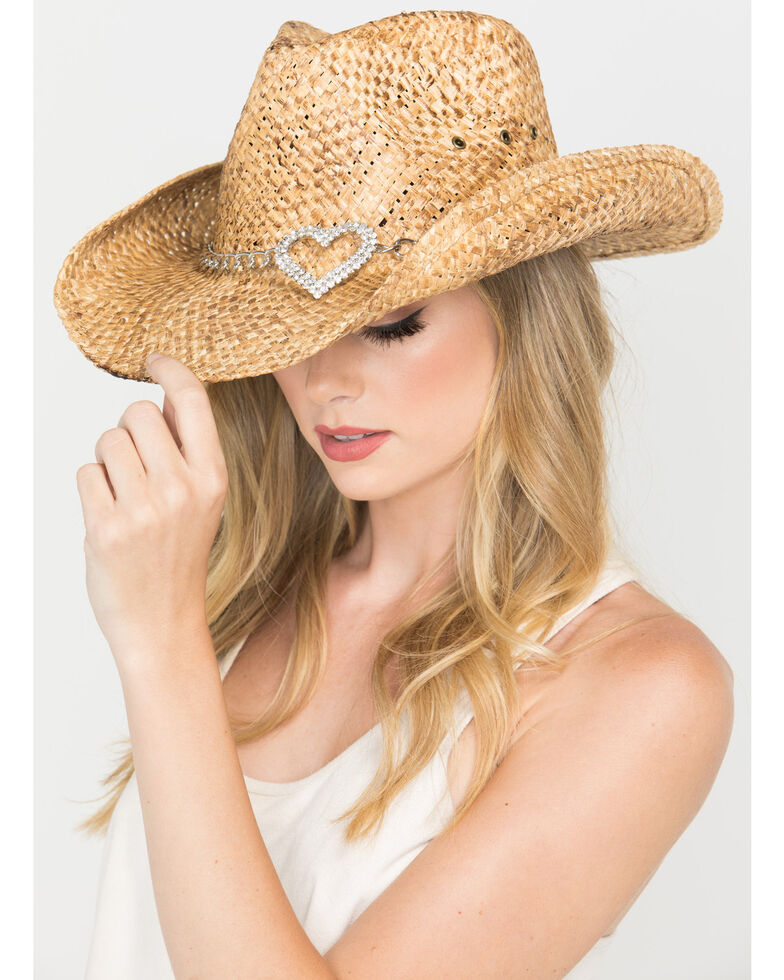 Shyanne® Women's Heart Attack Cowboy Hat, Brown, hi-res