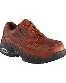 Florsheim Women's Polaris Canoe Oxfords Work Shoes - Composite Toe, Brown, hi-res