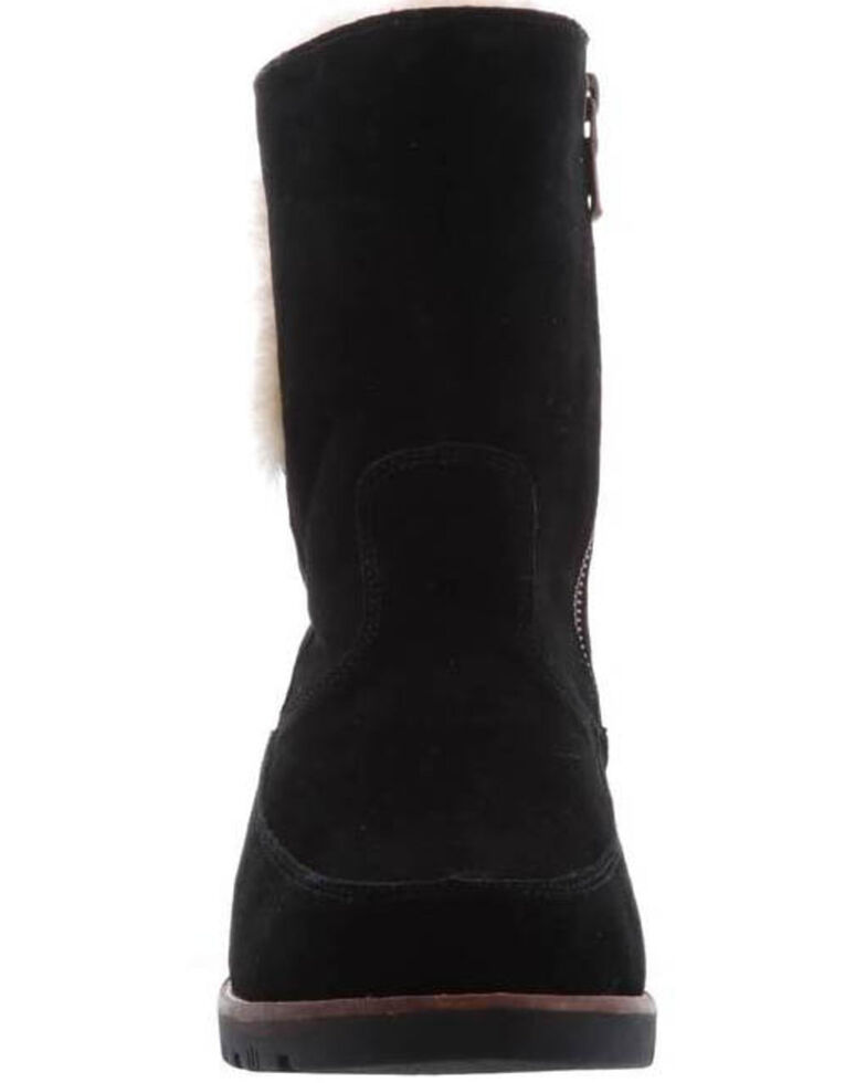 Lamo Footwear Women's Black Brighton Boots - Moc Toe, Black, hi-res