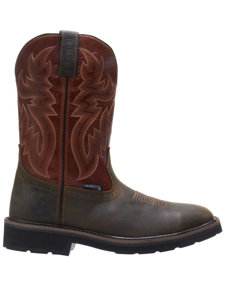 Wolverine Men's Rancher Waterproof Western Work Boots - Soft Toe, Rust Copper, hi-res