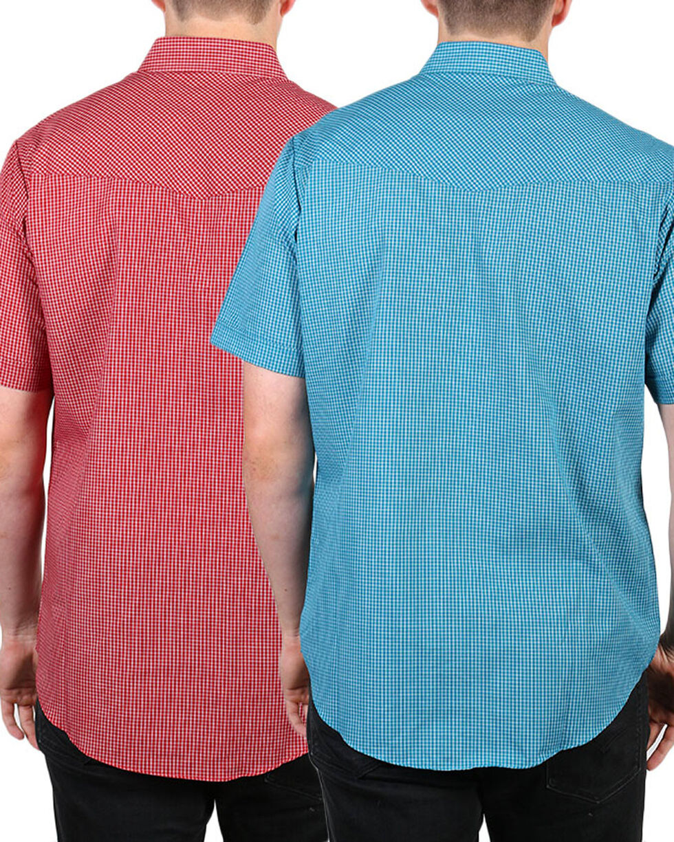 Ely Cattleman Men's Assorted Plaid Snap Short Sleeve Shirt, Multi, hi-res