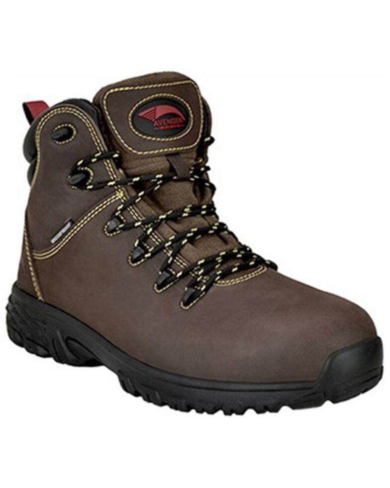 Avenger Men's Slip-Resistant Work Boots - Alloy Toe, Brown, hi-res