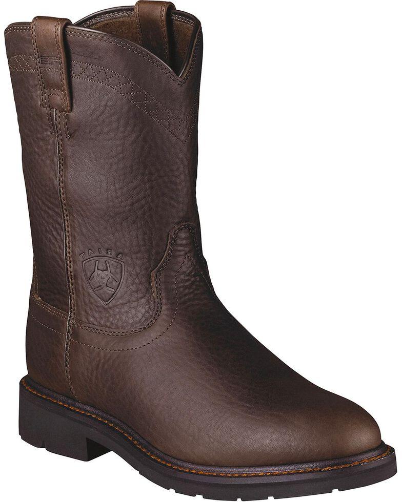 Ariat Men's Sierra Work Boots, Brick, hi-res