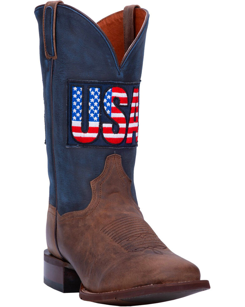 Dan Post Men's USA Sand Goat Western Boots - Wide Square Toe, , hi-res