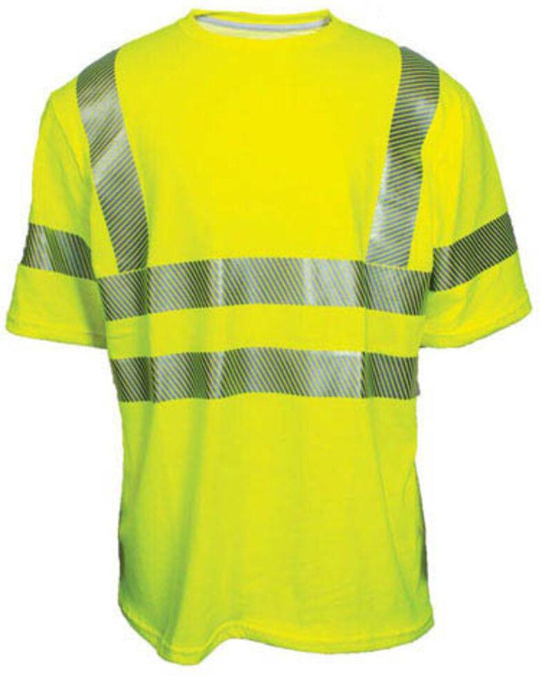 National Safety Apparel Men's Vizable FR Hi-Vis Pocket Short Sleeve Work Shirt , Bright Yellow, hi-res
