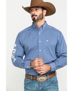 Ariat Men's Trevor Logo Geo Print Long Sleeve Western Shirt - Big , Multi, hi-res