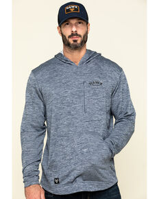 Hawx Men's Navy Petrol French Terry Hooded Work Sweatshirt , Navy, hi-res