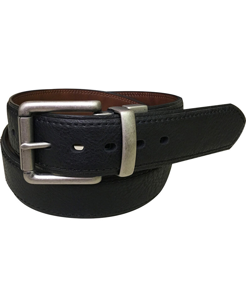 Berne Men's Reversible Leather Belt , Black, hi-res