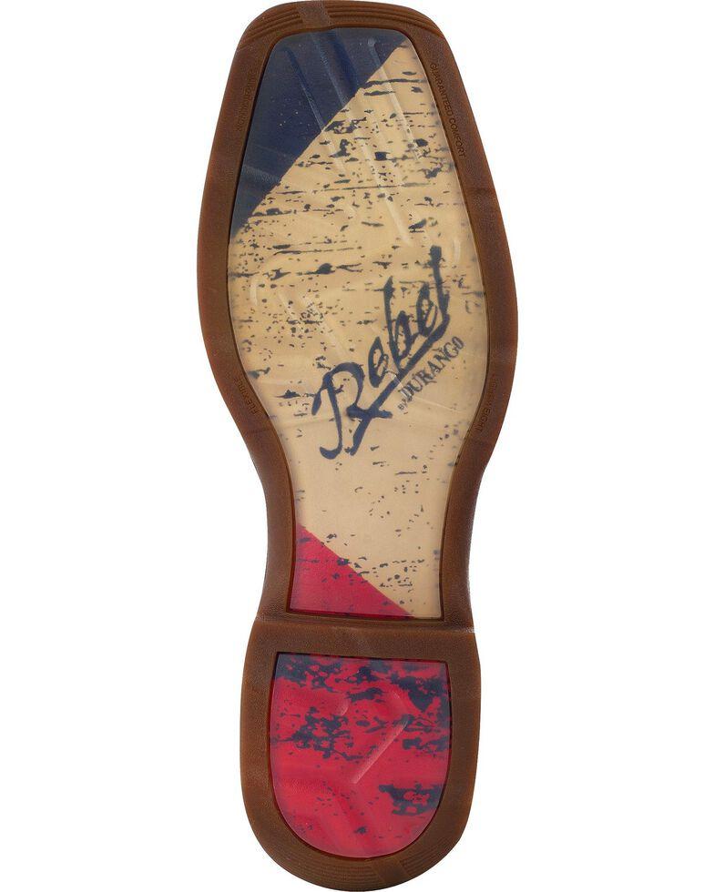 Durango Men's Patriotic Single Star Square Toe Western Boots, Brown, hi-res