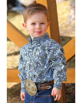 Cinch Toddler Boys' Paisley Print Button Long Sleeve Western Shirt , Multi, hi-res