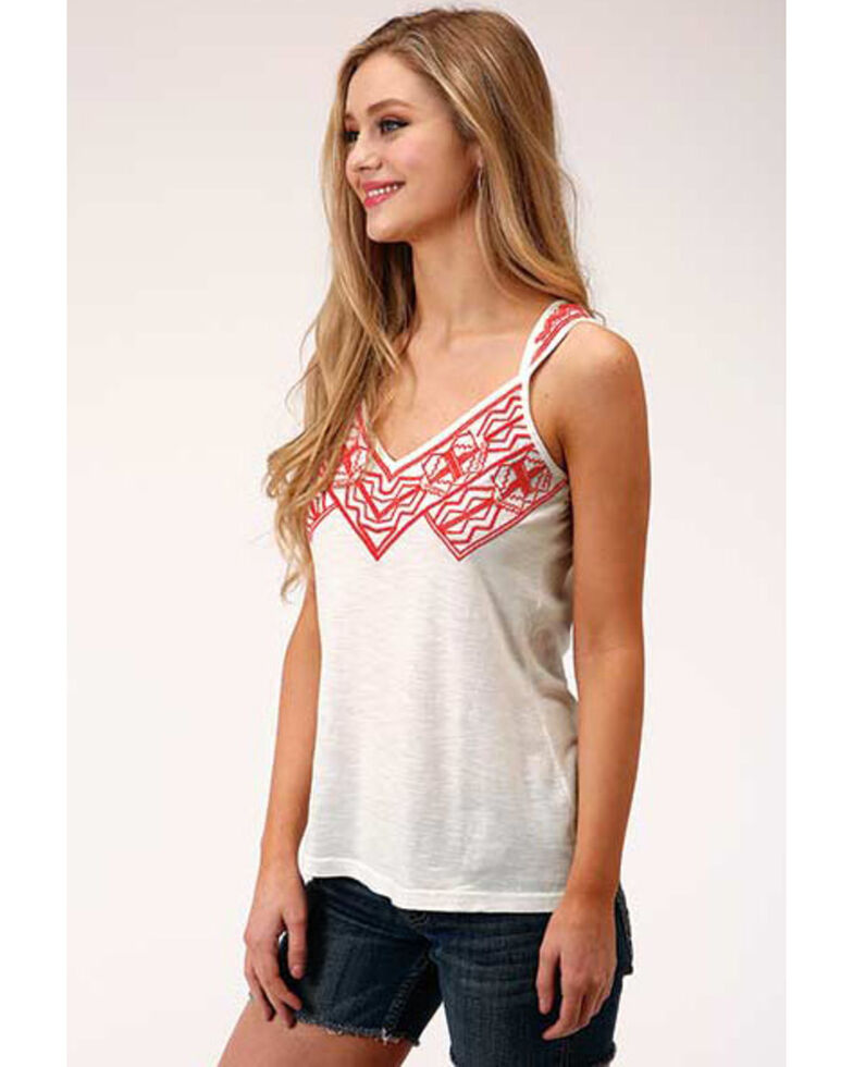 Five Star Women's Aztec Embroidery Sleeveless Top  , , hi-res