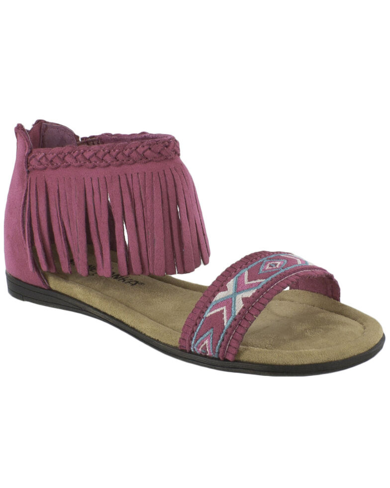 Minnetonka Girls' Coco Sandals, Hot Pink, hi-res