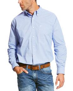 Ariat Men's Patterned Long Sleeve Shirt, Purple, hi-res