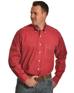 Tuf Cooper Performance Men's Red Multi Plaid Shirt , Red, hi-res