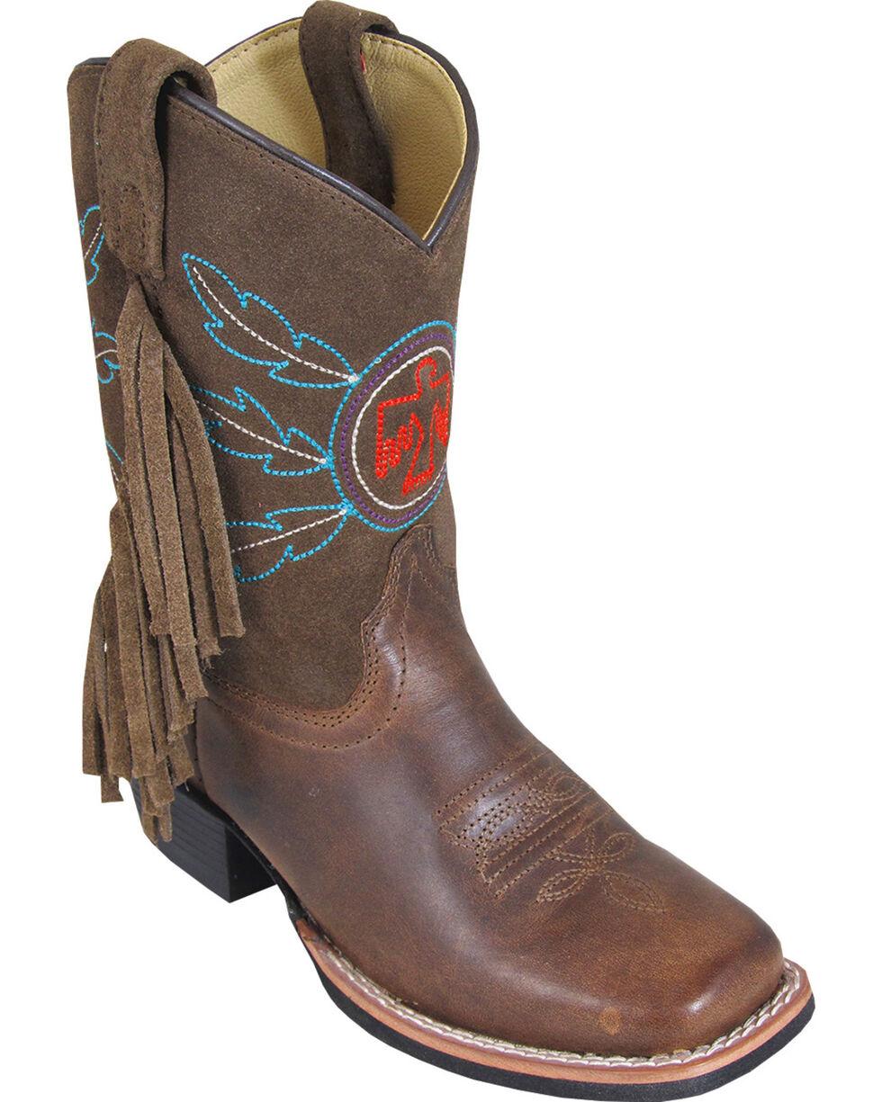 Smoky Mountain Boys' Thunderbird Western Boots - Square Toe, Brown, hi-res