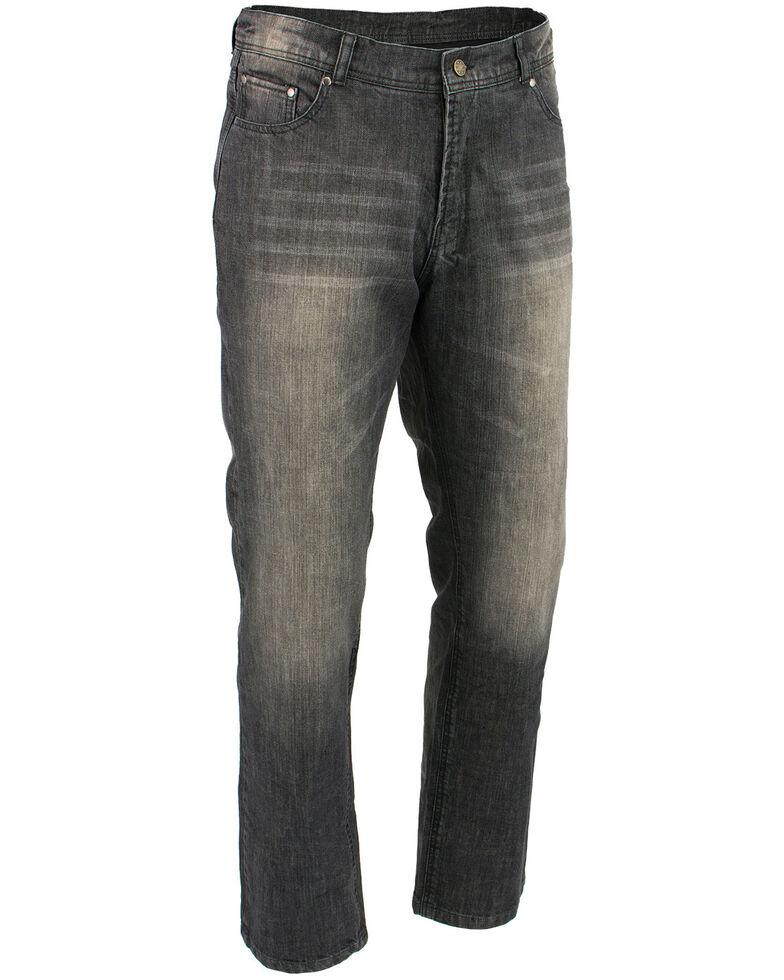 "Milwaukee Leather Men's Black 34"" Denim Jeans Reinforced With Aramid - Big, Black, hi-res"