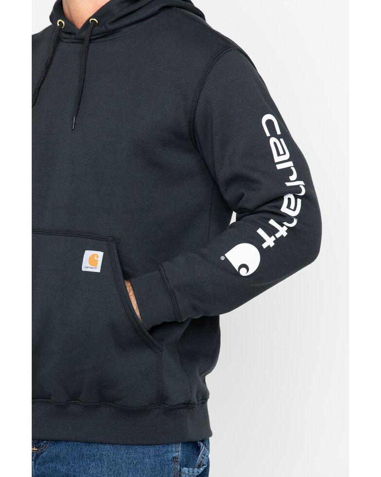 Carhartt Logo Hooded Sweatshirt, Black, hi-res