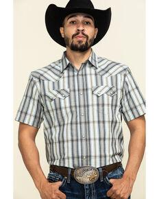 Cody James Men's Tall Oaks Plaid Short Sleeve Western Shirt , Grey, hi-res