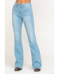Idyllwind Women's Holston High Rise Fit & Flare Front Seam Jeans , Blue, hi-res
