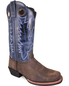 Smoky Mountain Women's Brown Mesa Crackle Boots - Square Toe , Brown, hi-res
