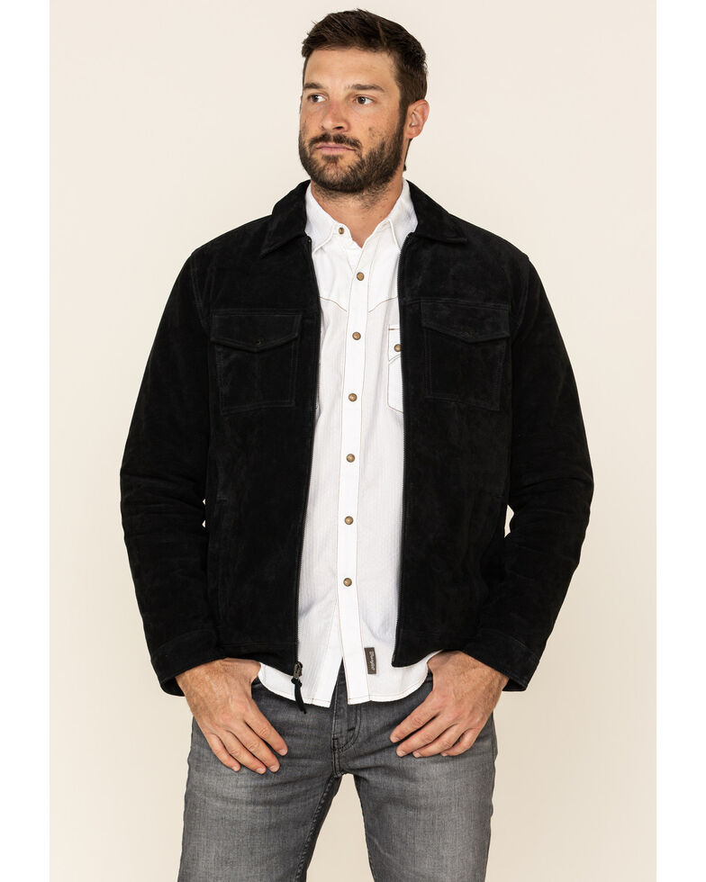 Moonshine Spirit Men's Black Cromwell Suede Roadie Jacket , Black, hi-res