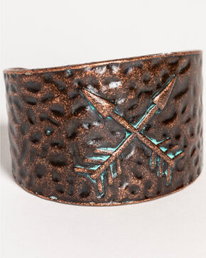 Shyanne Women's La Rosita Crossed Arrow Cuff Bracelet, Turquoise, hi-res