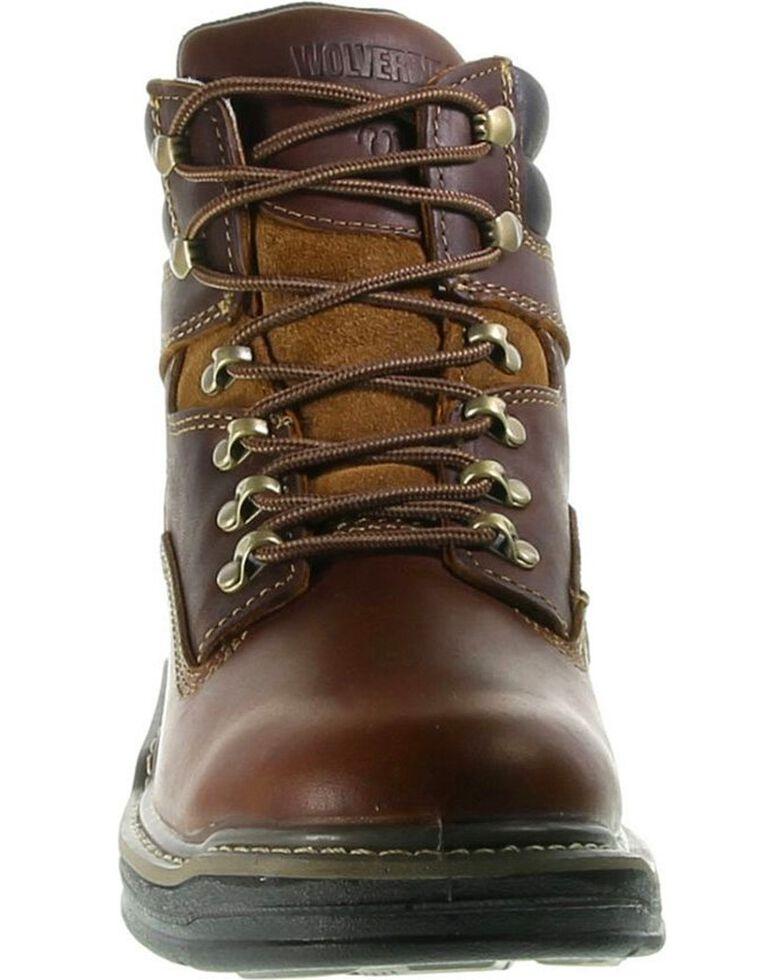 """Wolverine Men's Raider Multi Shox 6"""" Work Boots, Brown, hi-res"""
