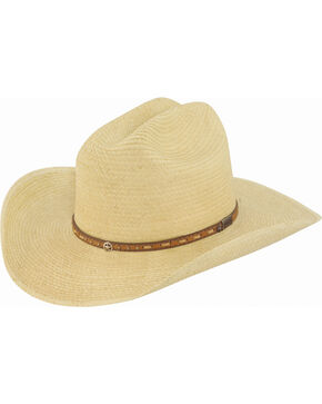 Larry Mahan Boys' Granger Palm Leaf Junior Cowboy Hat, Natural, hi-res