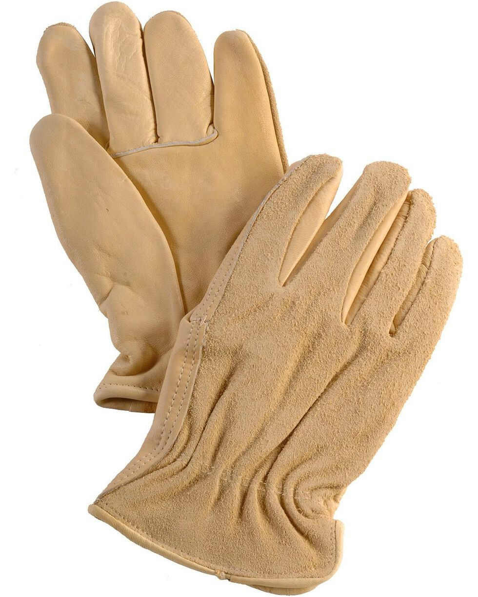 Justin Split Back Cowhide Gloves, Tan, hi-res