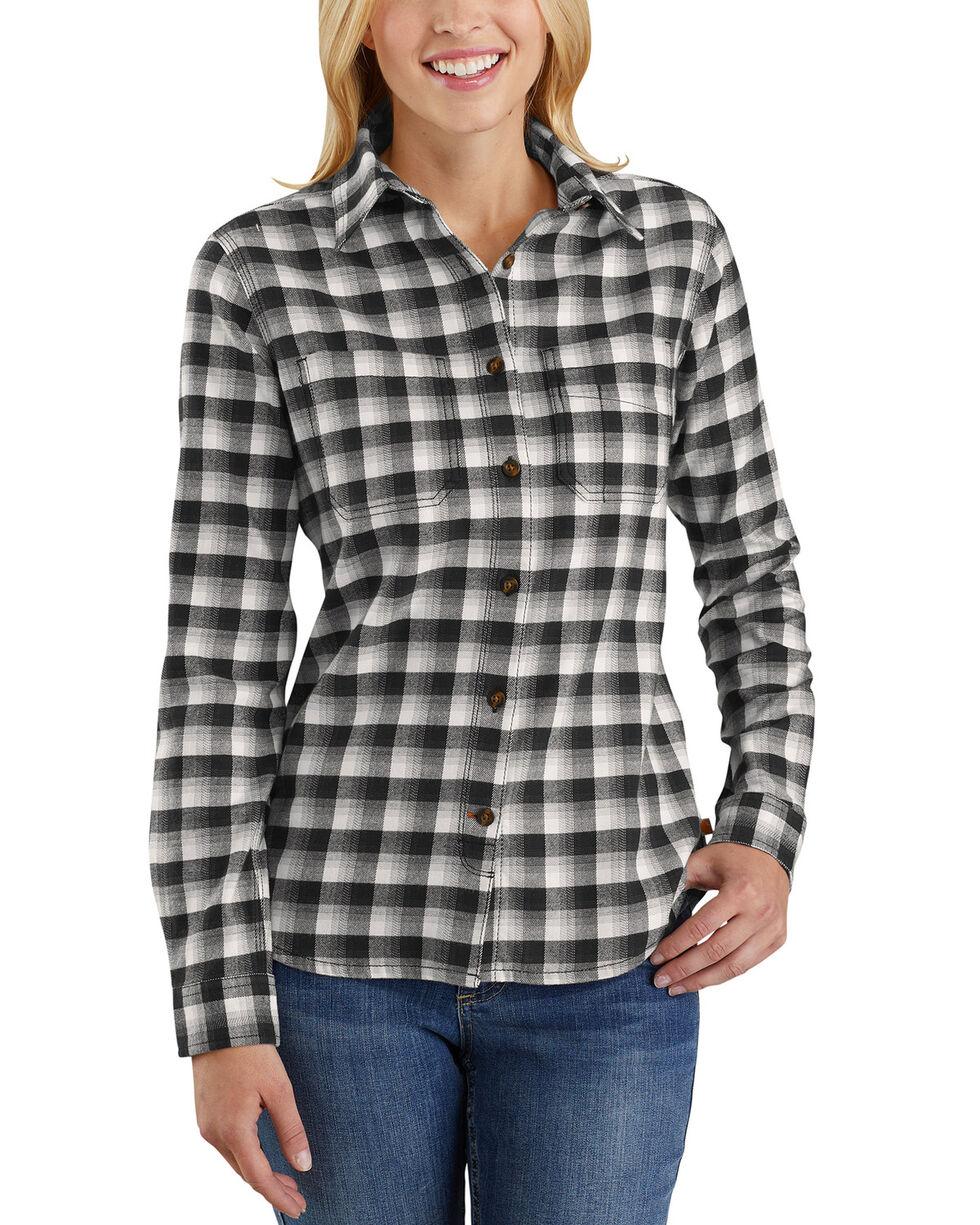 Carhartt Women's Rugged Flex Hamilton Flannel Work Shirt , Natural, hi-res